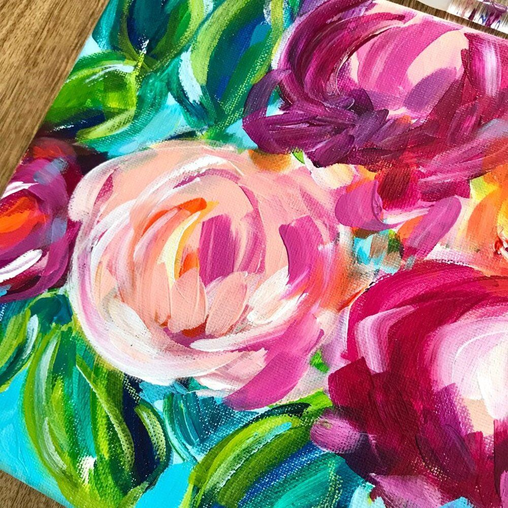 Easy Abstract Flowers for Beginners in 2020 | Abstract ...