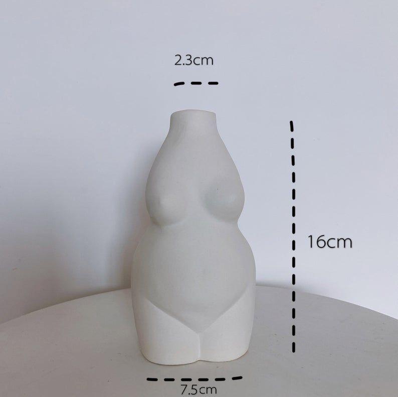Small White Vase Handmade Ceramic Vase Minimalist Decor Modern Air Plant Pot Flower Vase Gift Living Room Decor Vozeli Com