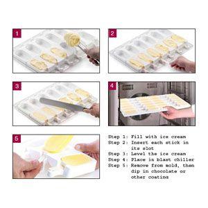 Wedding Cake Shape Silikomart Silicone Mold for Ice Cream Pops