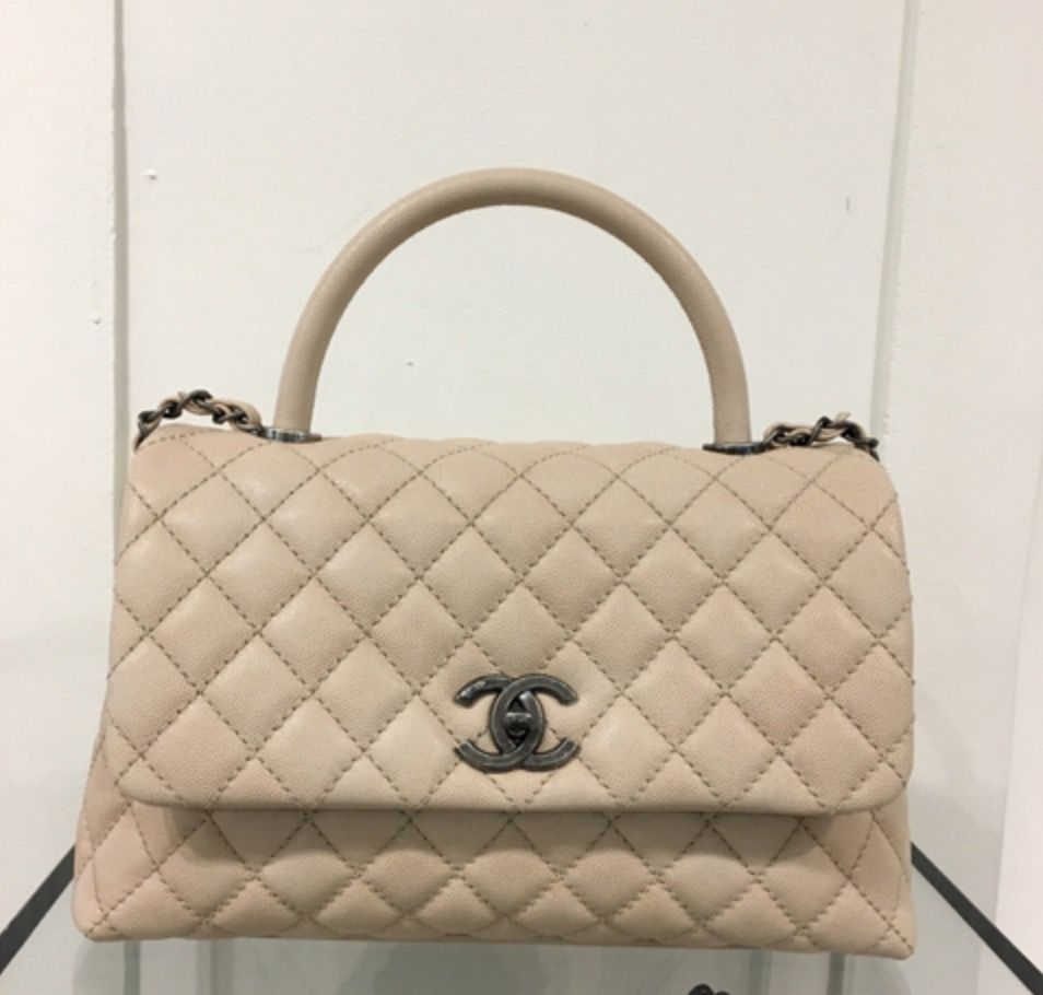 9c76744c79be07 Chanel Beige Coco Handle Small Bag | CHANEL in 2019 | Chanel coco ...