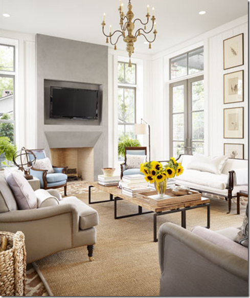 Working With Tall Ceilings French Country Living Room