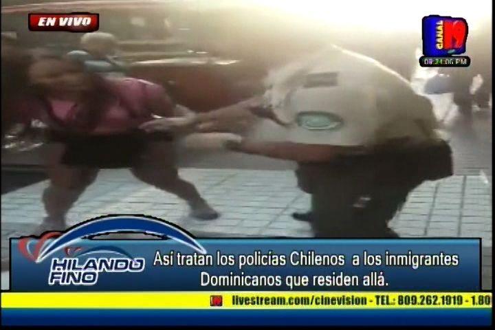¡INDIGNANTE! Mira Como Policías Tratan A Dominicanas En Chile