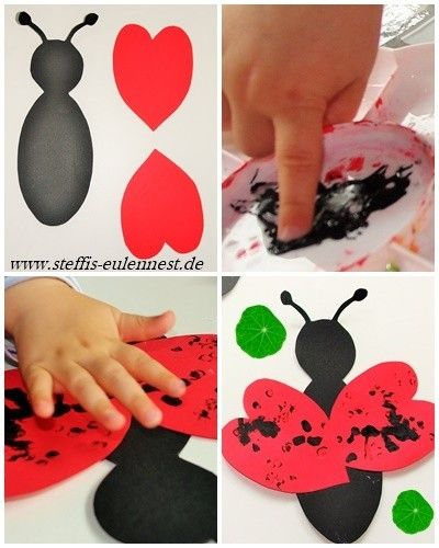 basteln mit kindern marienk fer ladybug kinder basteln fr hling basteln f r kinder kita. Black Bedroom Furniture Sets. Home Design Ideas