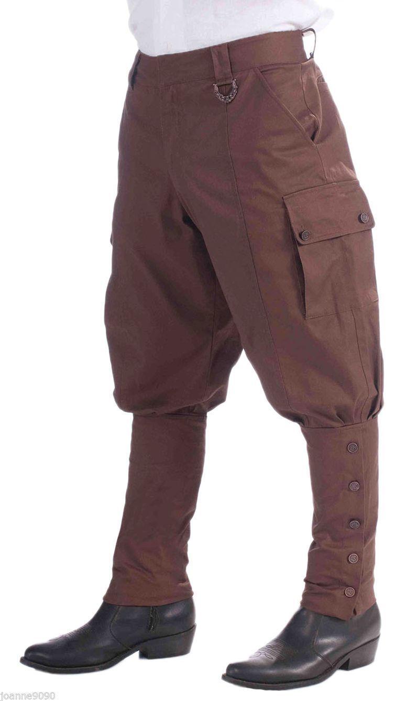 1c6d770def Hombre Años 20 steampunker Victoriano Disfraz Marrón Pantalones Pantalones