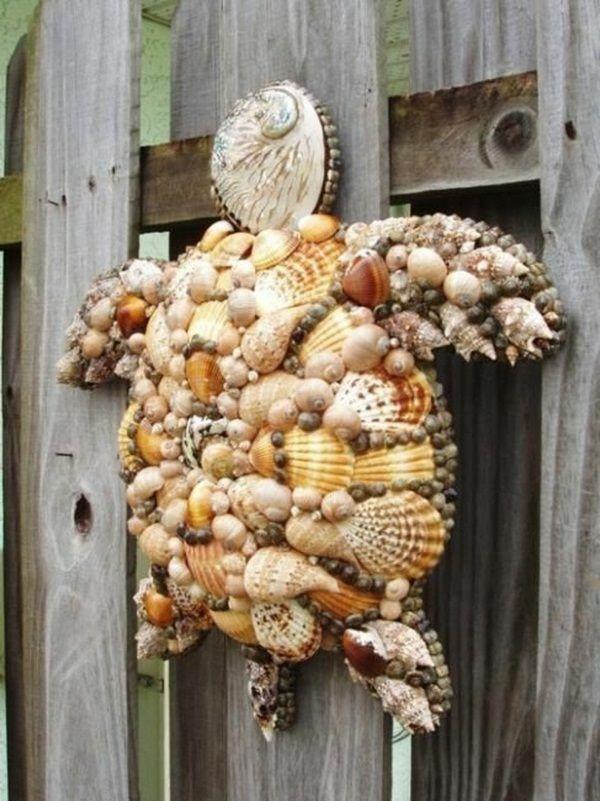 Decoration Turtle Shells Creative Idea Seashell Crafts Shell