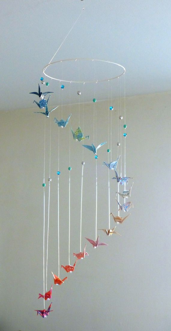 Origami Baby Mobile Spiral Mobile Paper Crane Origami