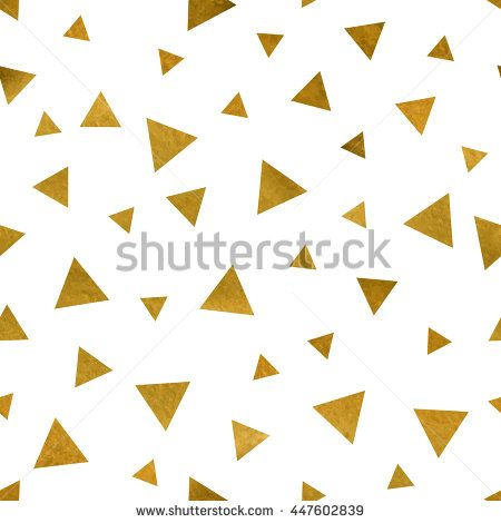 Seamless pattern with golden triangles. You can create gift or packaging paper, scrapbook, printed fabrics, holiday invites, birthday cards, party decorations, clothes, textile, stationary and more. - stock vector
