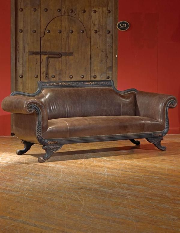 duncan phyfe leather sofa in 2019 beautiful things leather sofa rh pinterest com