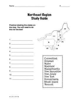 photo regarding Northeast States and Capitals Quiz Printable referred to as Areas of the United Claims: Northeast, Analyze Specialist (5