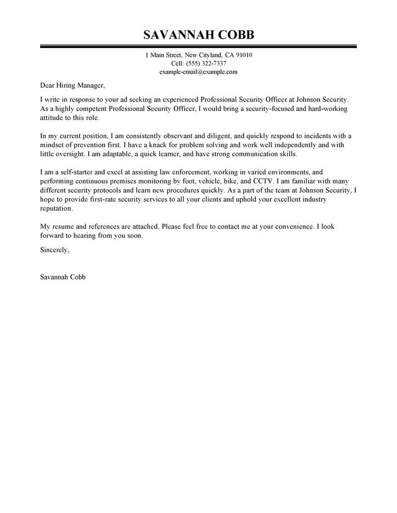 Cover Letter Template Law Enforcement Cover Letter Template