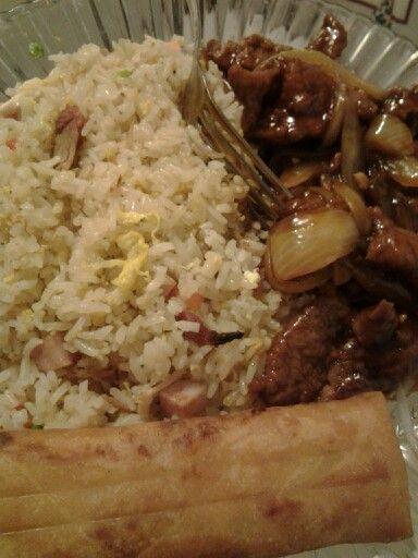 Mi comida de hoy. Comida china yummy.