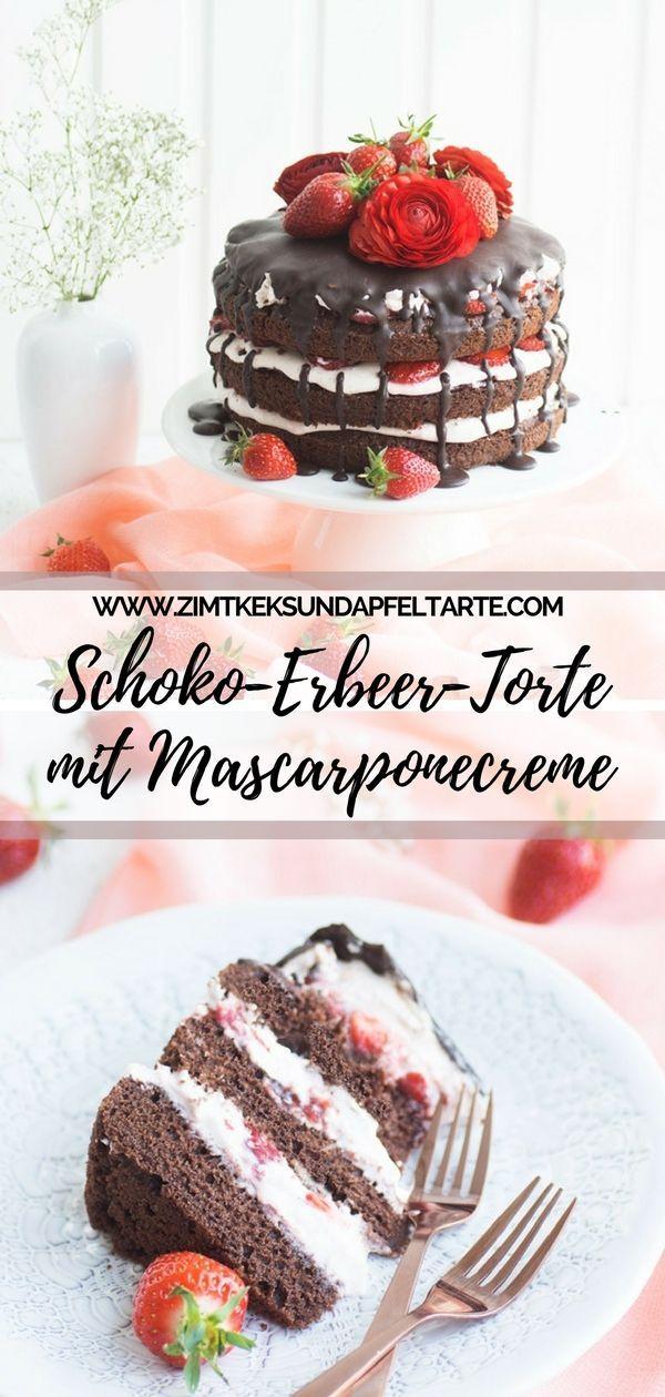 Super einfach mit Wow-Effekt: Schokoladen-Erdbeer Naked Cake