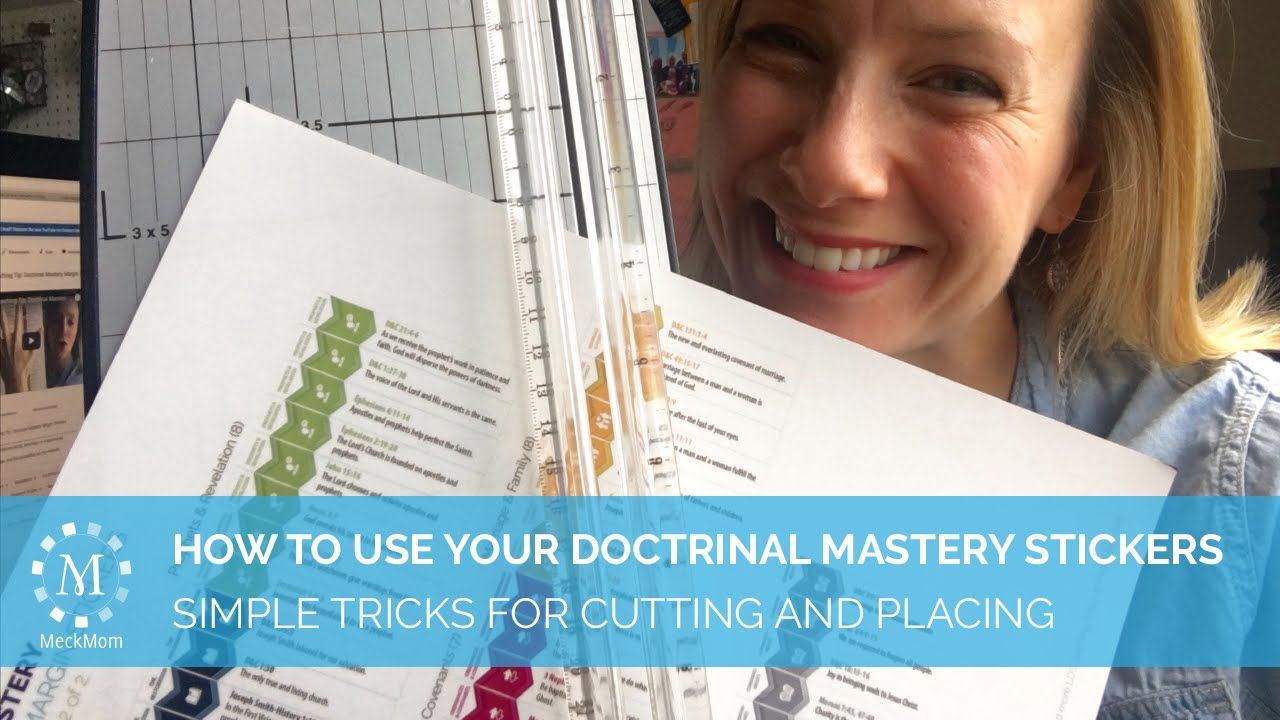 MeckMom's How To's: Cutting and placing your LDS Doctrinal Mastery Stickers
