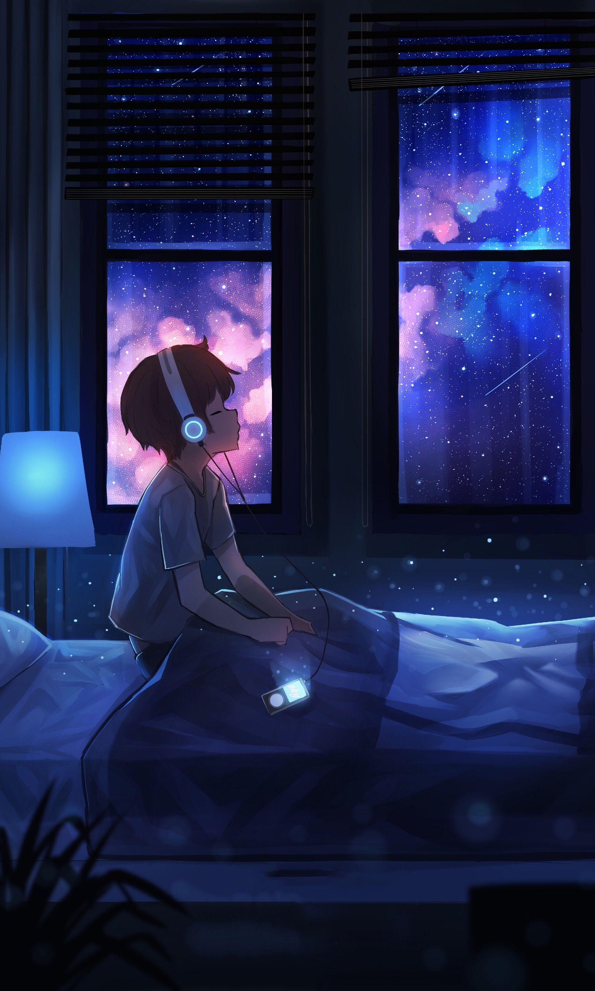 Pin Oleh Sarfaraz Di 3 5 Phone Foto Langit Malam Seni Animasi Bintang Jatuh