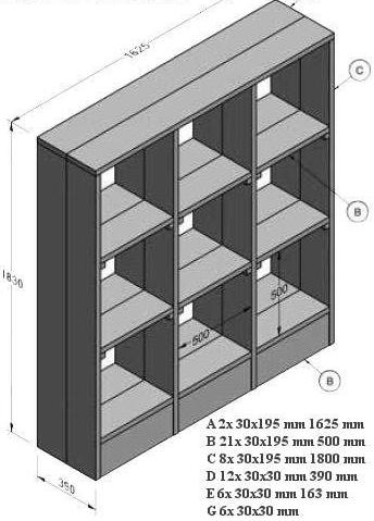 bouwtekening boekenkast nodig klik hier voor gratis bouwtekeningen