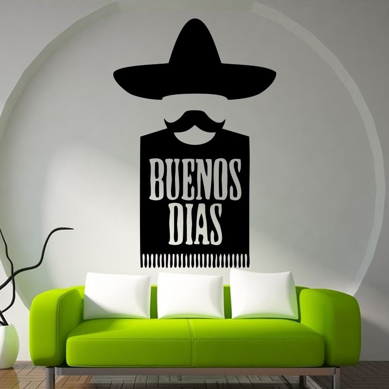 Find More Wall Stickers Information About Buenos Dias Mexican Kitchen Food Wall  Art Stickers Decals Vinyl