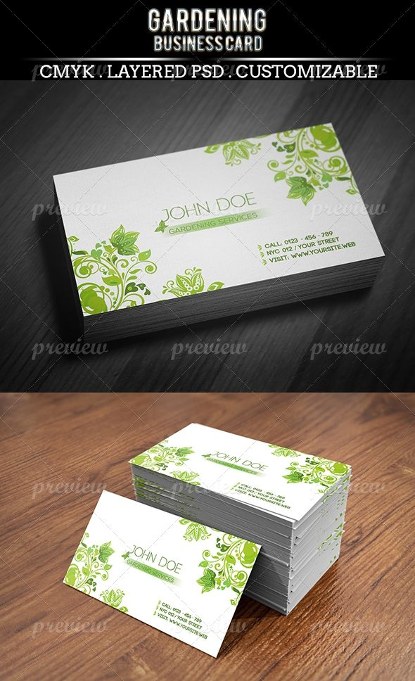 Gardening Business Card | Business cards, Business and Fonts