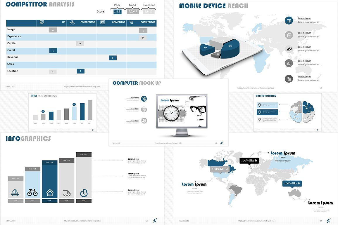 Business Smart Powerpoint Template Life Cycle Company History