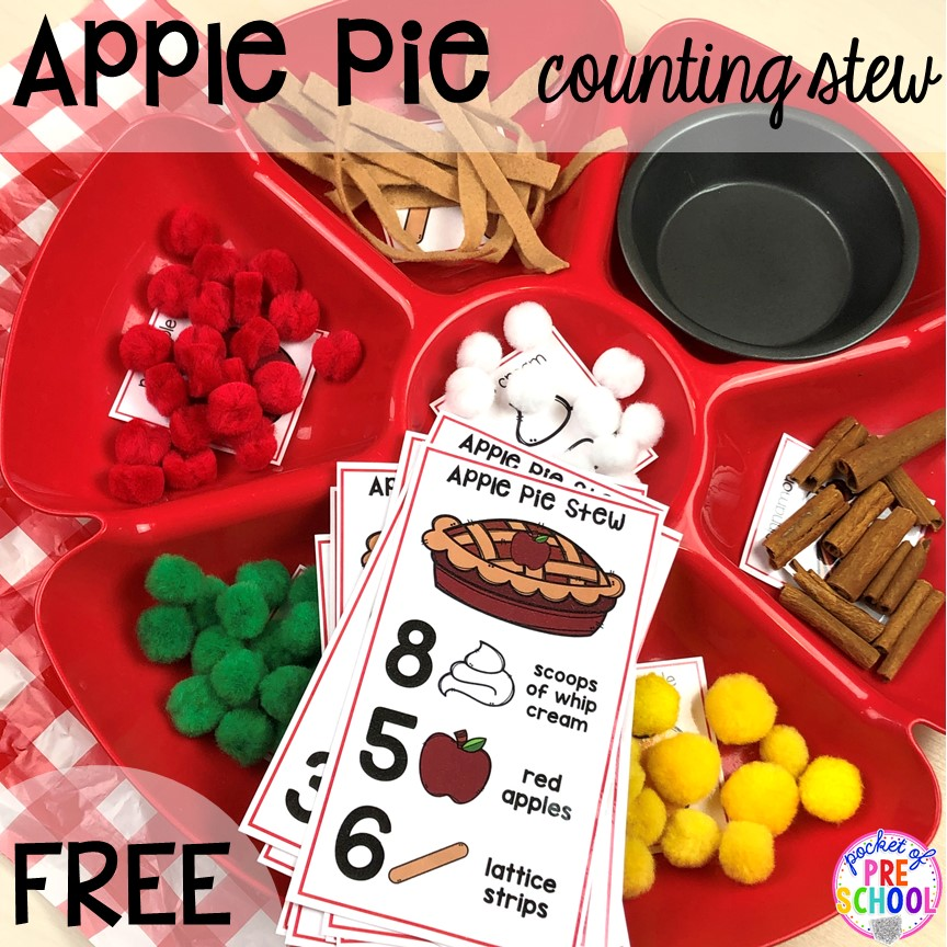 Apple Activities and Centers for Little Learners - Pocket of Preschool