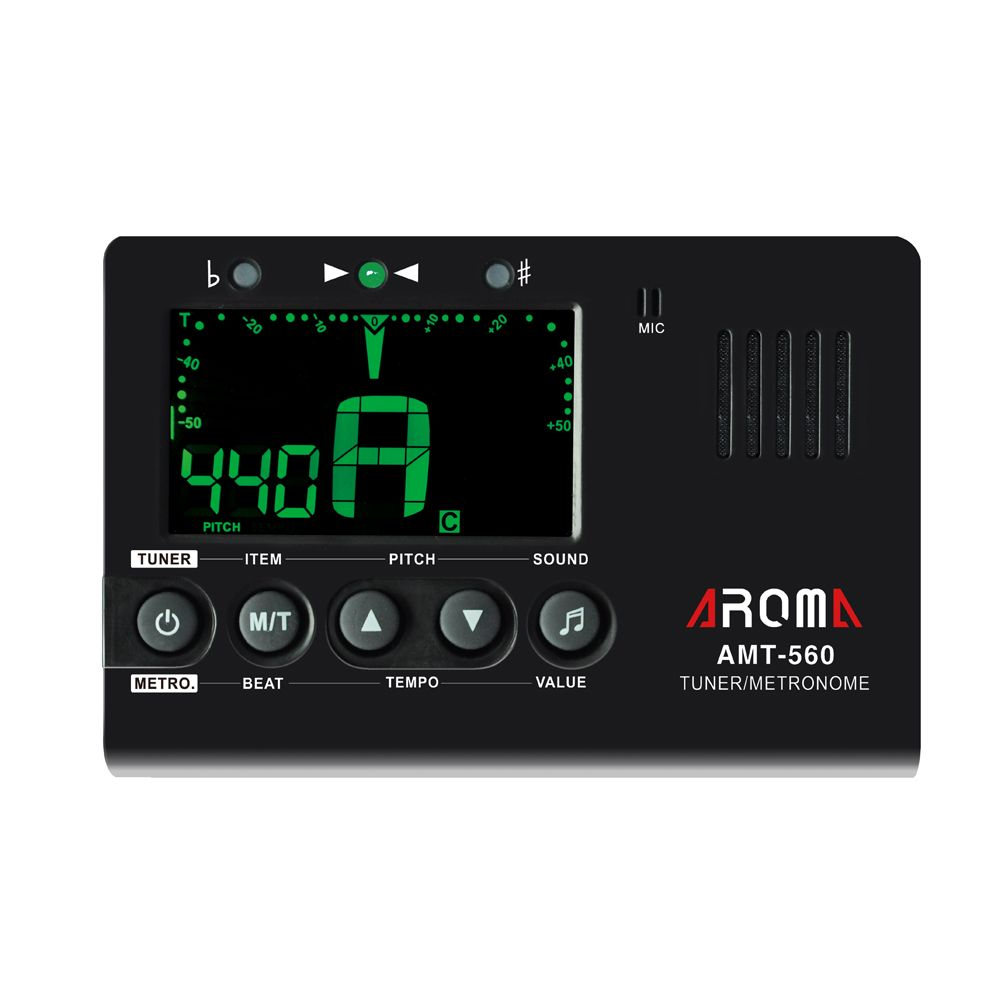 Aroma Amt 560 Guitar Tuner Electric Tuner Metronome Built In Mic With Pickup Function For Guitar Chromatic Guitar Tuners Electric Guitar Tuner Guitar Metronome