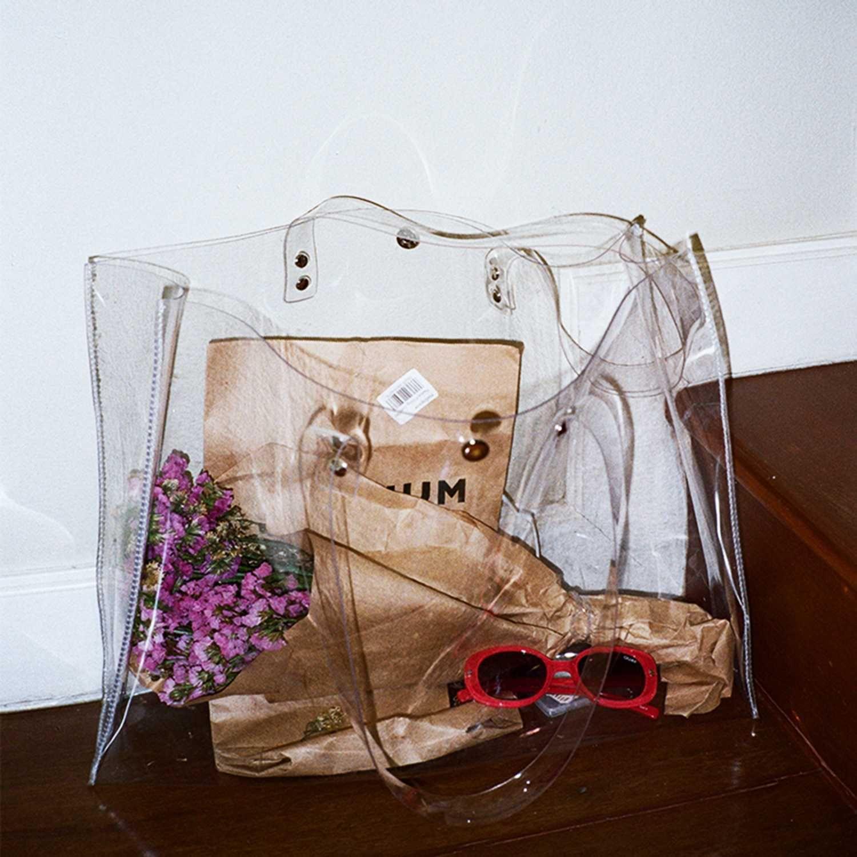 transparent bag handbags totes for women beach tote bags summer clear bags fashi…