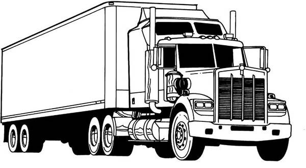 Printable Coloring Pages Garbage Truck : Truck coloring book. popular truck coloring pages book design for