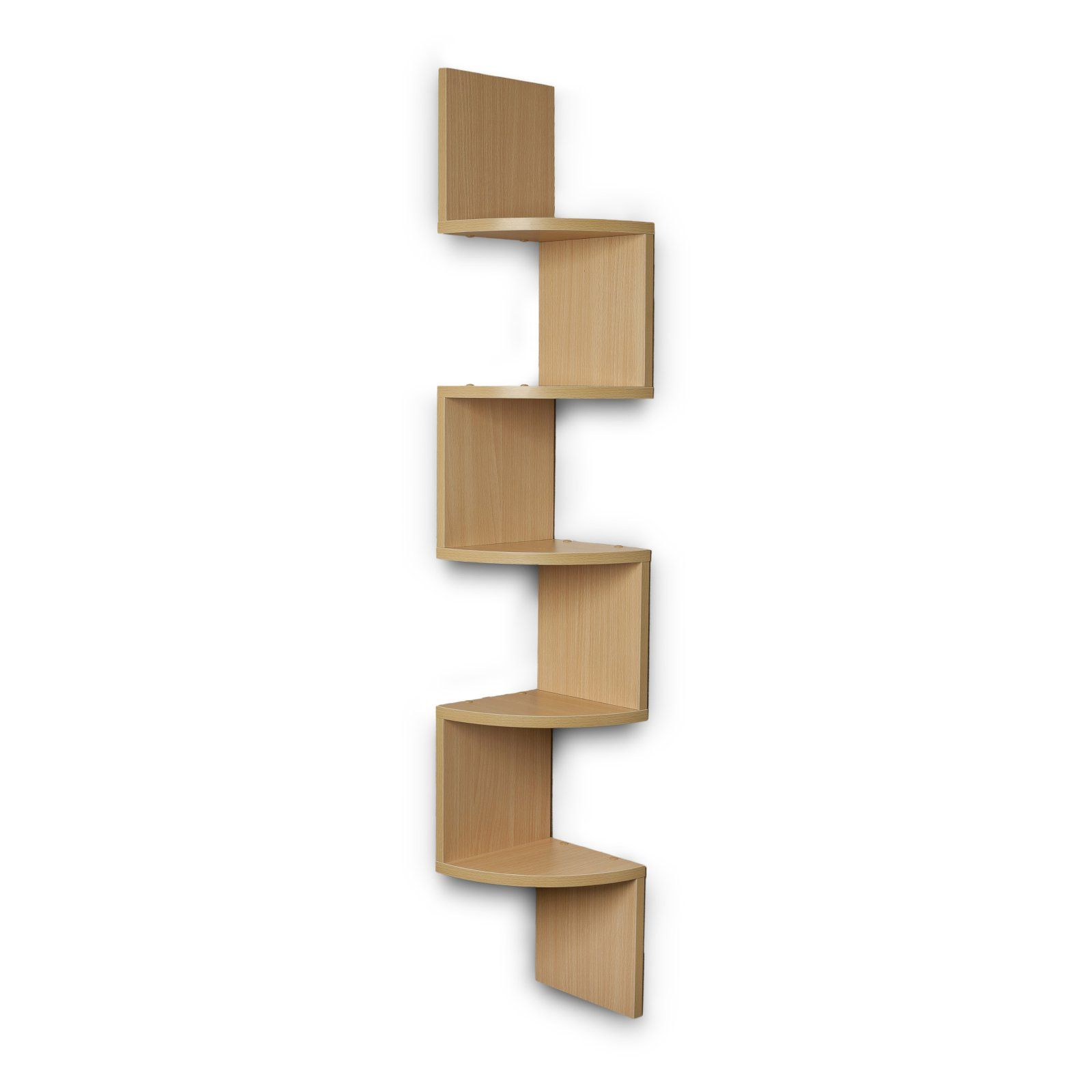 Danya B Large Laminated Corner Wall Mount Shelf Wall Mounted Shelves Corner Wall Corner Wall Shelves