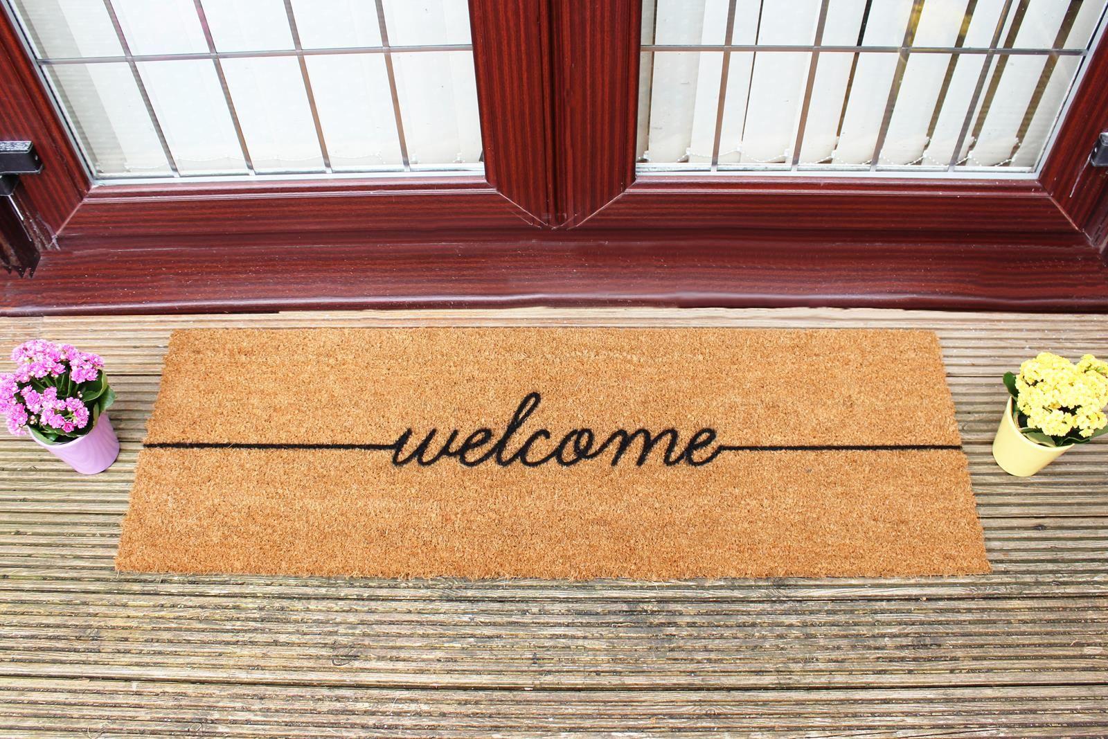 Welcome Double Door Mat Door Mat Double Doors Double Doors Exterior
