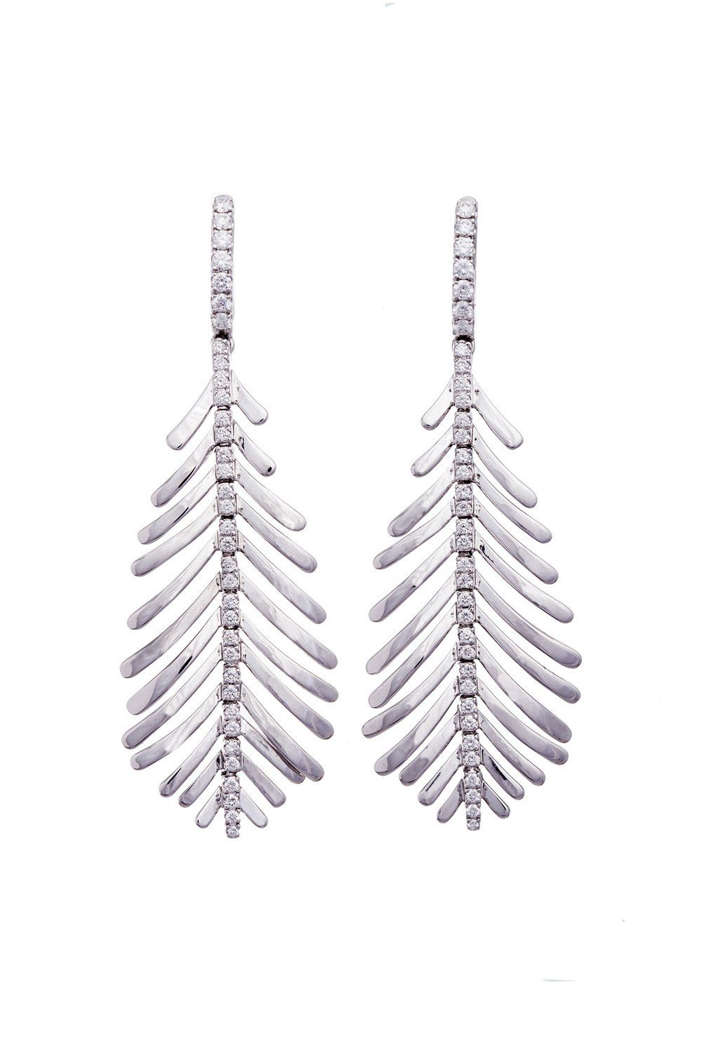 Plume earrings gold and collection