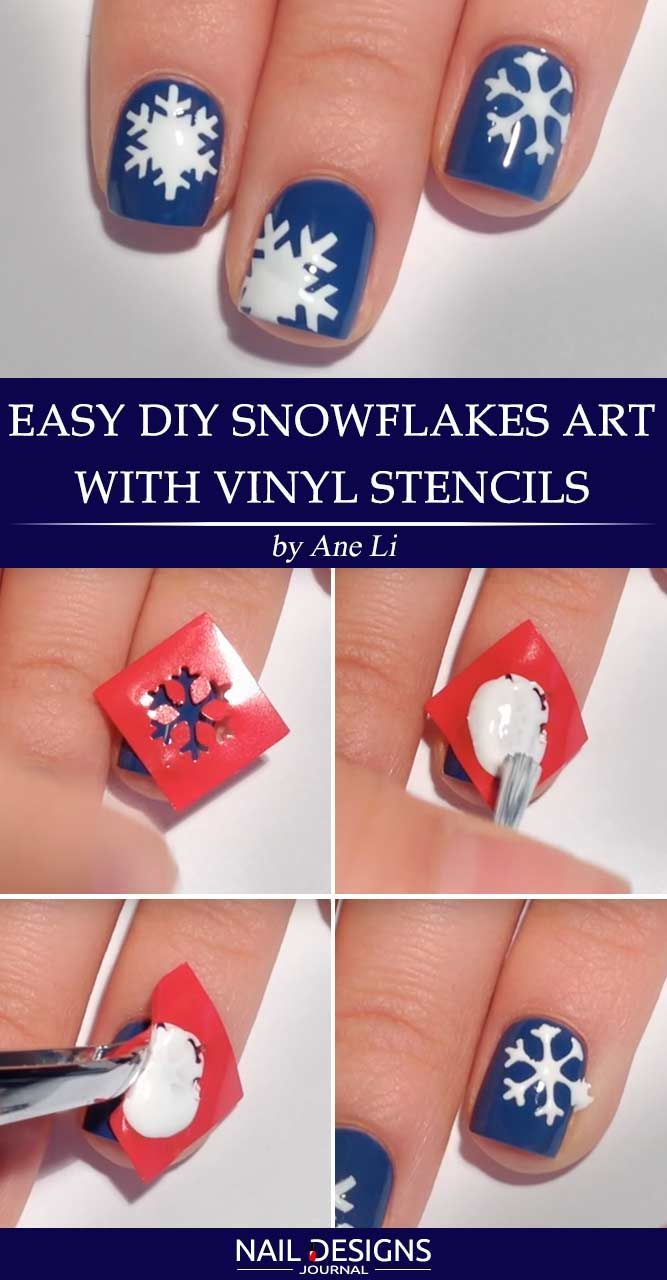 10 Best Tutorials On Snowflake Nails Designs