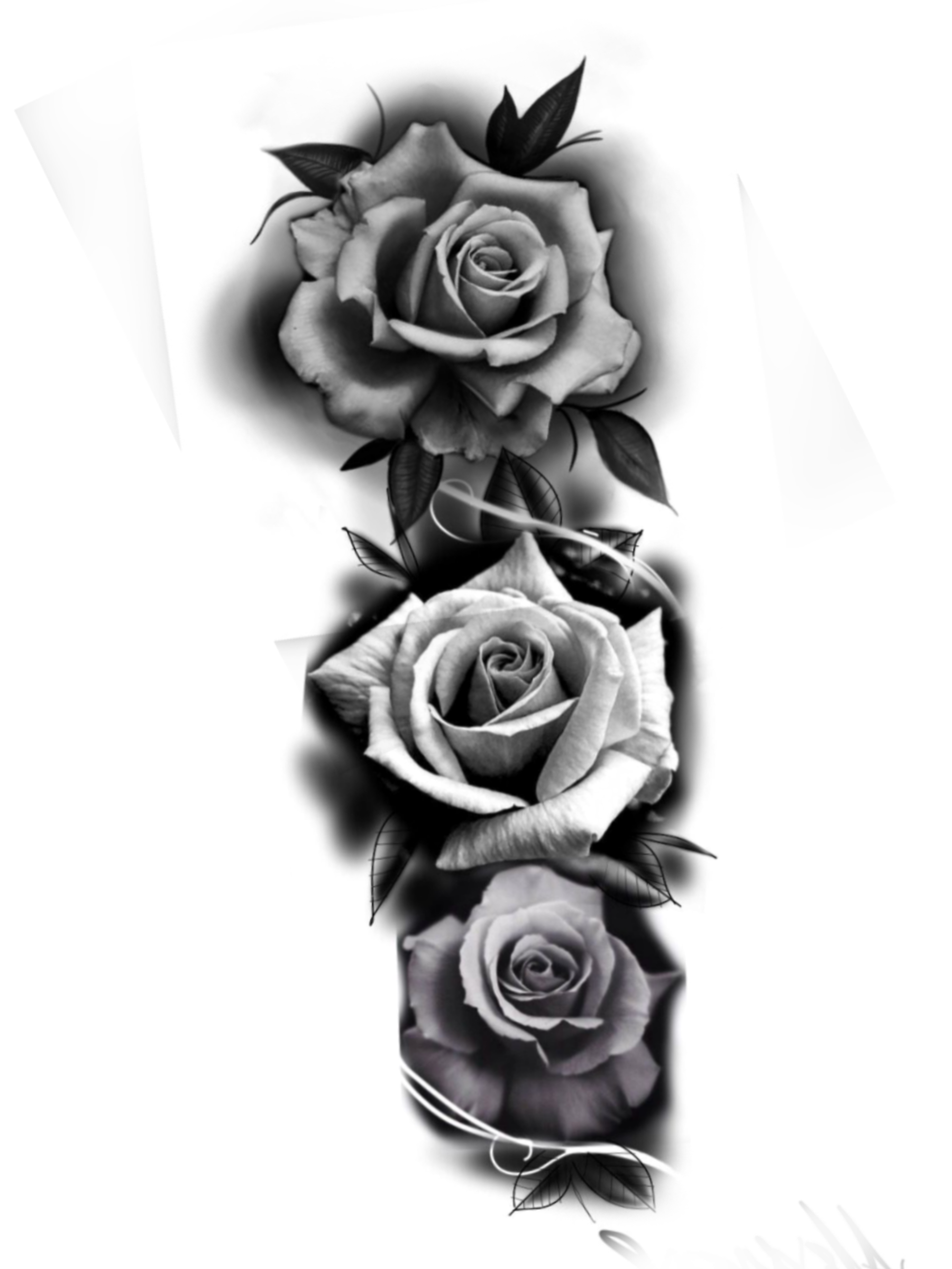 Download Tattoo Artist Rose Ink - Rose Tattoo Vector Png