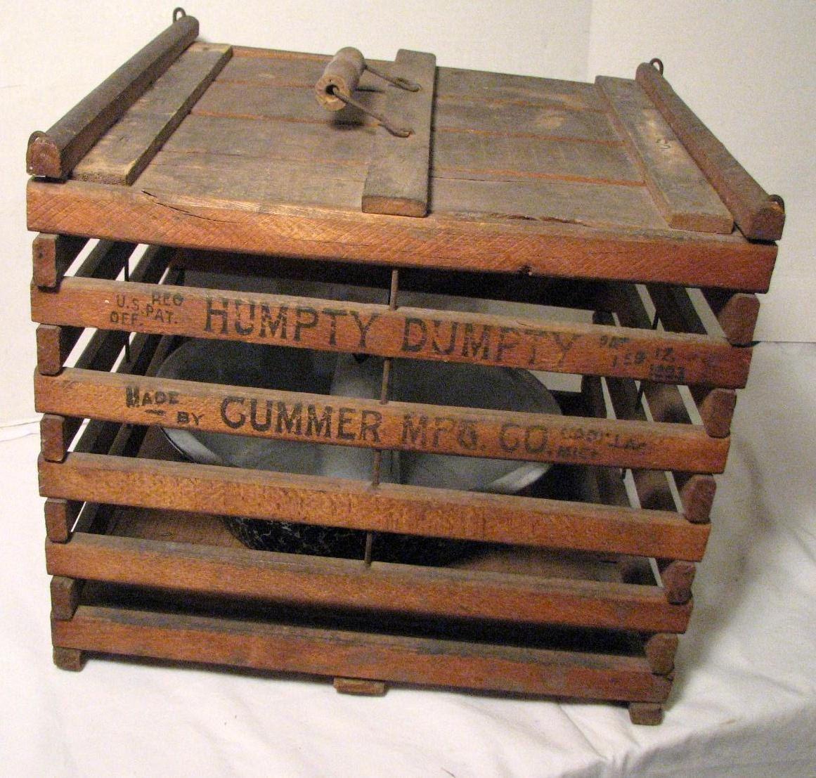 Primitive Wood Egg Crate Patented 1903 Humpty Dumpty Prims