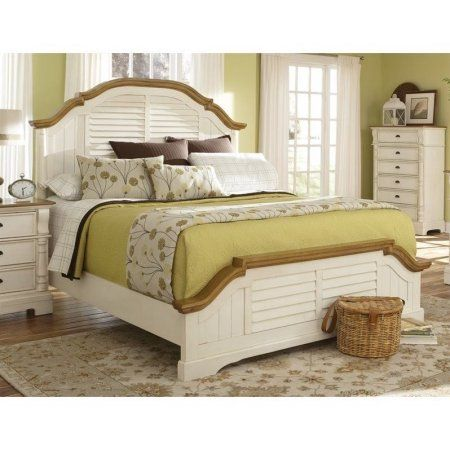 Coaster Oleta King Panel Bed in Oak and Buttermilk #coasterfurniture
