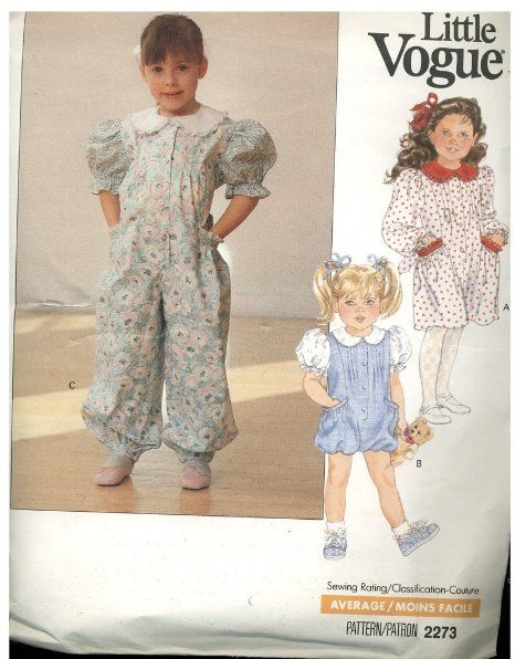 Little Vogue Sewing Pattern Toddlers Children S Dress