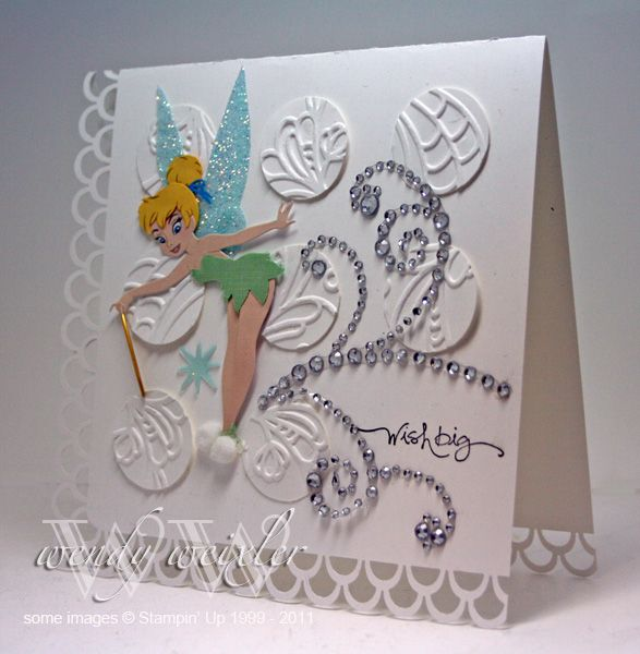 Well It Should Be No Secret How Much I Love Tinkerbell You Have Noticed My Scs Username Right When I Think Creative Cards Cards Handmade Kids Cards