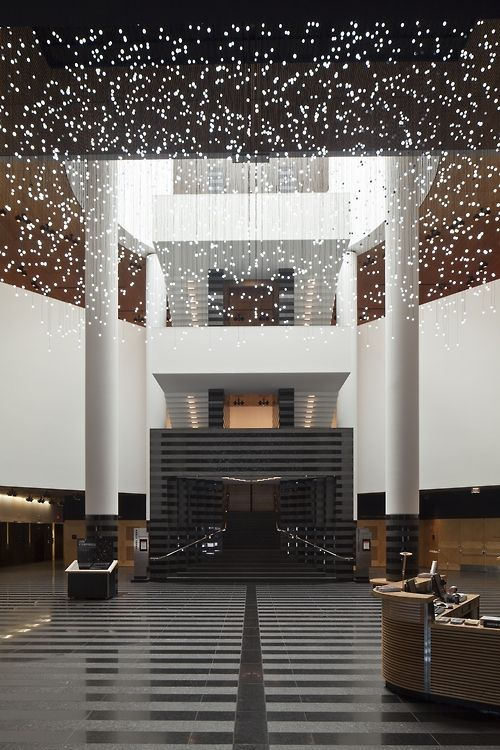 Experience live art in  local space  exploded views installation sfmoma by jim campbell also top luxury dining tables exclusive brands lamp shades rh pinterest