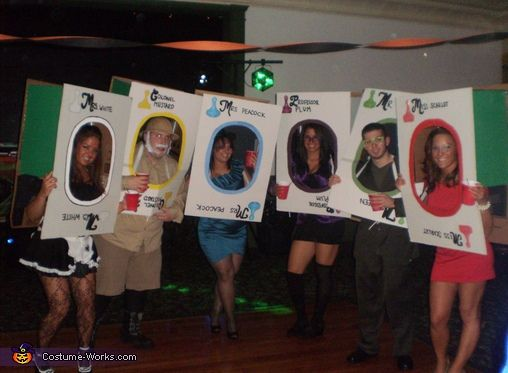 Clue Card Characters Halloween Costume Contest At