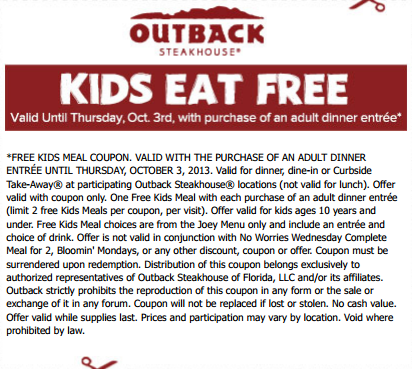 Pin On Outback Coupons