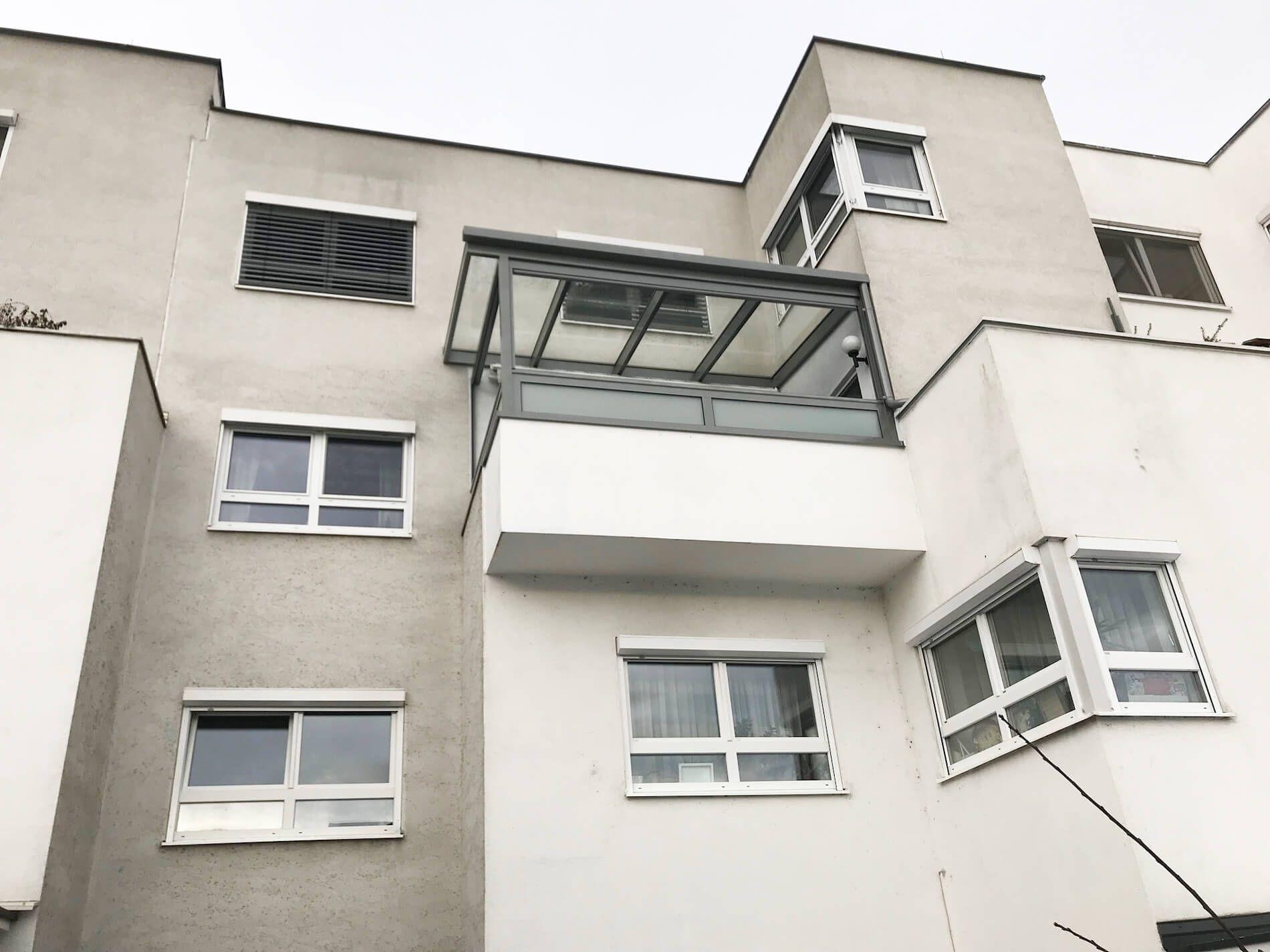Balkonüberdachung Alu Glas | Schmidinger Projekte ...
