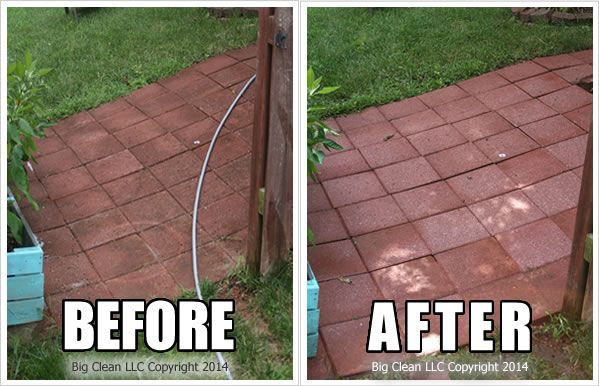 Pressure Washing Brick Paver Patio Before And After Spring