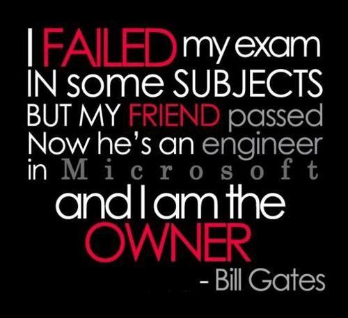 Examens Geslaagd Gezakt Exam Quotes Bill Gates Quotes
