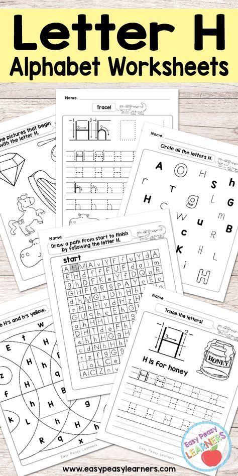 Free Printable Letter H Worksheets Alphabet Worksheets Series