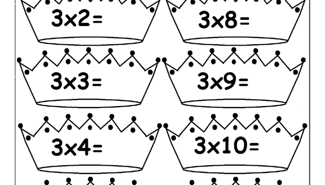 Multiplication Times Tables Worksheets - 2, 3, 4, 6, 7, 8, 9, 10, 11 ...