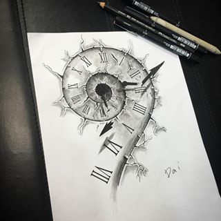Cracked Clock Drawing Google Search Clock Tattoo Sketch Tattoo Design Clock Tattoo Design