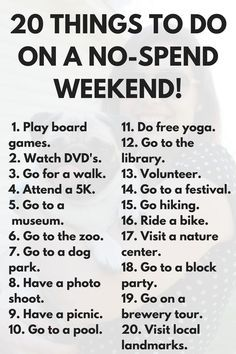 20 Free Things to Do This Weekend via Frugal Millennial