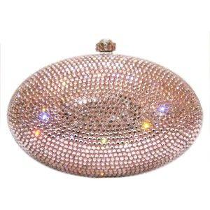 mauve evening bag | ... Swarovski Crystal Handbag- Ladies Purse, Evening Bag Crystal Clutch