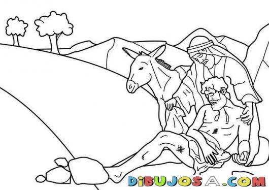 Dibujo del Buen Samaritano para colorear | COLOREAR BIBLICOS ...