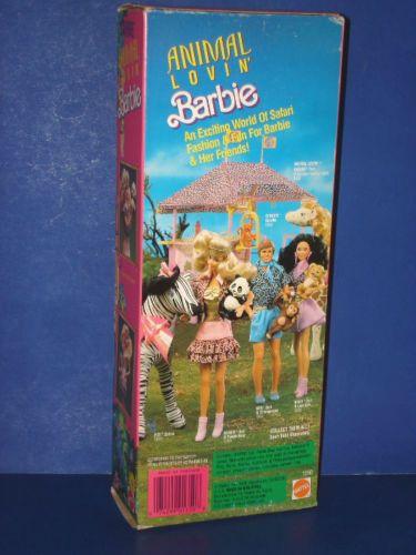 Animal-Lovin-Barbie-Muneca-Con-Oso-Panda-1989-Nrfb-Mattel