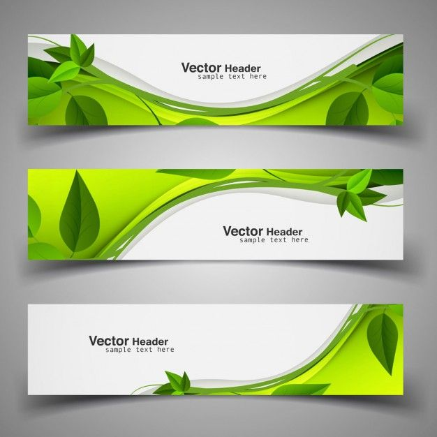 Download Green Nature Headers With Leaves For Free Green Nature Vector Business Card Farm Logo Design