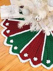 Ravelry: Festive Tree Skirt & Stocking pattern by Anna Langtange